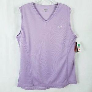 Nike XL(16-18) Sleeveless V Neck Purple Dri-Fit